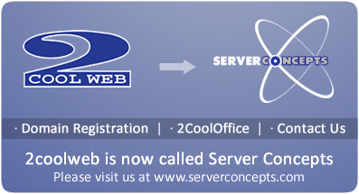 2CoolWeb is now called Server Concepts